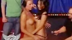 Yummy Blonde & Sensuous Thai Girl Makeout While Share Sybian Ride!-Yummy