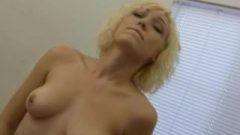 Amateur Blonde Lily Riding The Symbian At Home