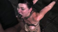 Brunette Whore Veruca James Facefucked While Riding The Sybian