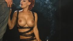 Pornstar LouLou Giving A Smoking Blow-Job While Riding The Sybian