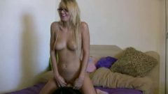 Sensual Young Blonde Teen Uses A Sybian Sex Machine Part 1