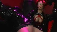 RubberDoll & Rubberella Spank Latex Bitch Plus Sybian Orgasm!