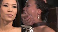 Kalina Ryu Tied, Throatfucked & Sybian