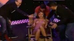 Leticia Cline Rides The Sybian And Gets Tickled By A Local Radio Host