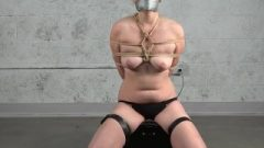 Misha Mayfair Restrained And Gagged On Sybian Intense Orgasm