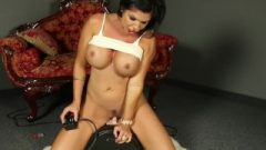 MILF Shay Fox Rides The Sybian Sex Machine Grinding Her Massive Clit On The Vib