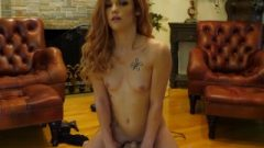 Tiny Teen Rides The Sybian And Ejaculates Raw