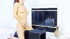 Kissable Girl Riding Sybian Machine