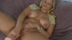 Anabelle Pync Pulls Her Micro Thong To The Side Using A Banging Machine