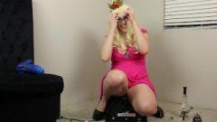 Princess Peach Rides Motorbunny Sybian