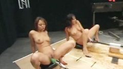 Girls Squirting Giant Loads On Banging Machines