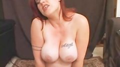 Busty Ginger Having Multiple Orgasms On The Sybian