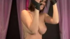 Tied Up And Stimulated By The Sybian