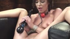 Slender Brunette Ides Machine And Sybian