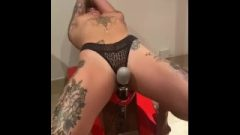 Amateur Female Spunks On Home Dared Sybian Machine