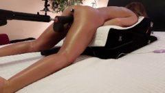 Amateur Wife – Ass-Hole Plug – 4 Dildos – 4 Splurting Orgasms Camera Running