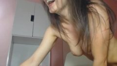 Amateur Web-cam Nice And Inviting Brunette Rubber Toy Masturbation