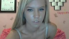 Attractive Golden-haired Web-cam